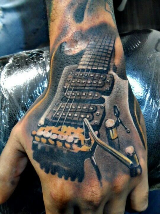 11abaae23f8ee Handy electric guitar tattoo (somebody please smack me)