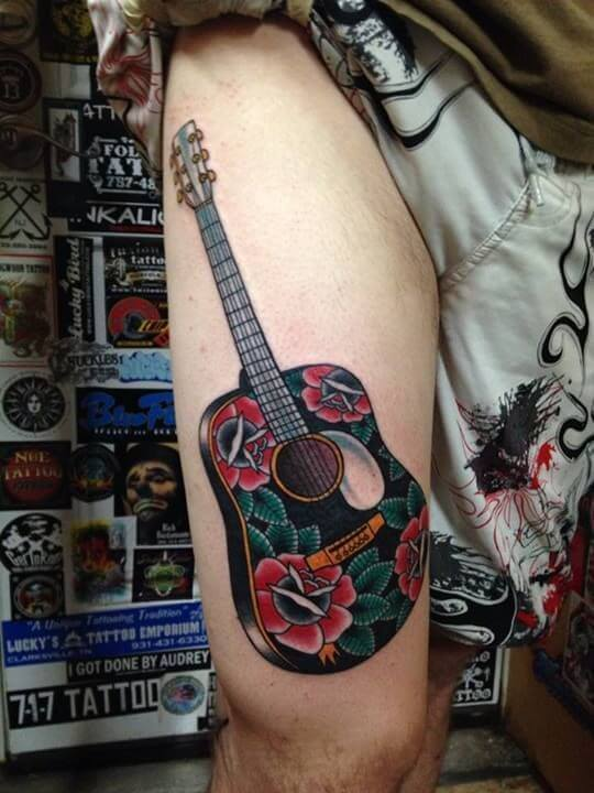 27 Guitar Tattoos You\'ll Either Love or Hate