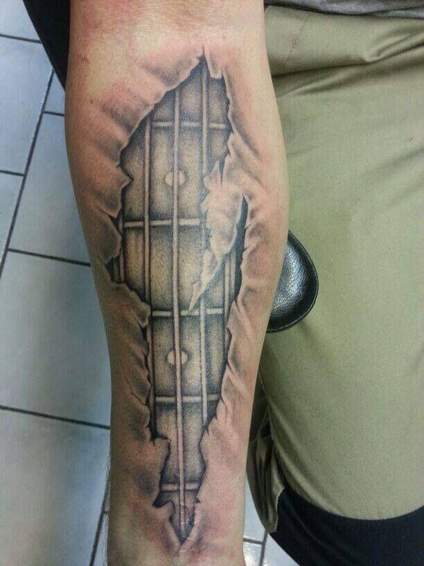 guitar-tattoo-colourful