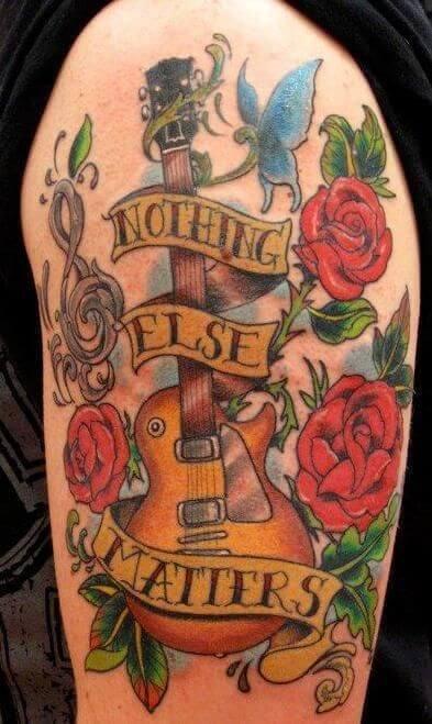 metallica-guitar-tattoo
