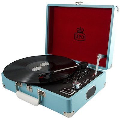 GPO Portable Vinyl Turntable with USB Digital Conversion
