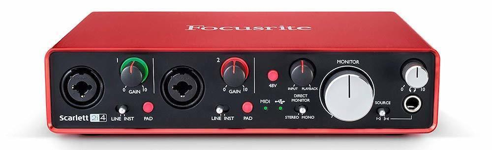 Focusrite Scarlett 2i4 (2nd Gen) USB Audio Interface - FRONT