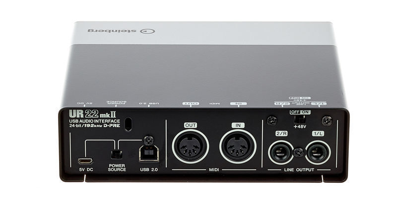 Steinberg UR22 MKII USB Audio Interface - BACK