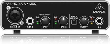 Best gift ideas for guitar players musicians Behringer UMC22 Computer Audio Interface
