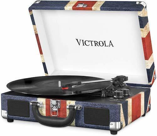 Best Gift ideas for guitar players music loversVictrola Suitcase Bluetooth 3-Speed Record Player Turntable