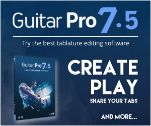 Guitar pro 7.5 guitar tablature editing software best free blank tab paper pdf