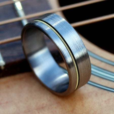 Guitar string ring accessories gifts for guitar players