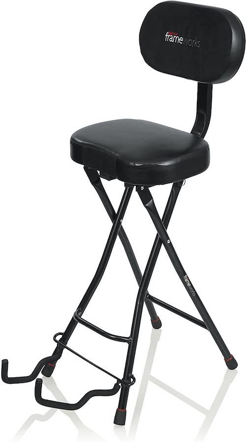 Guitar stool with backrest for good correct posture