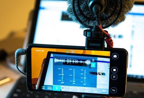 Smartphone Mobile Recording Playing Guitar