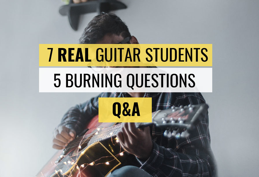 Guitar player beginner common questions learning