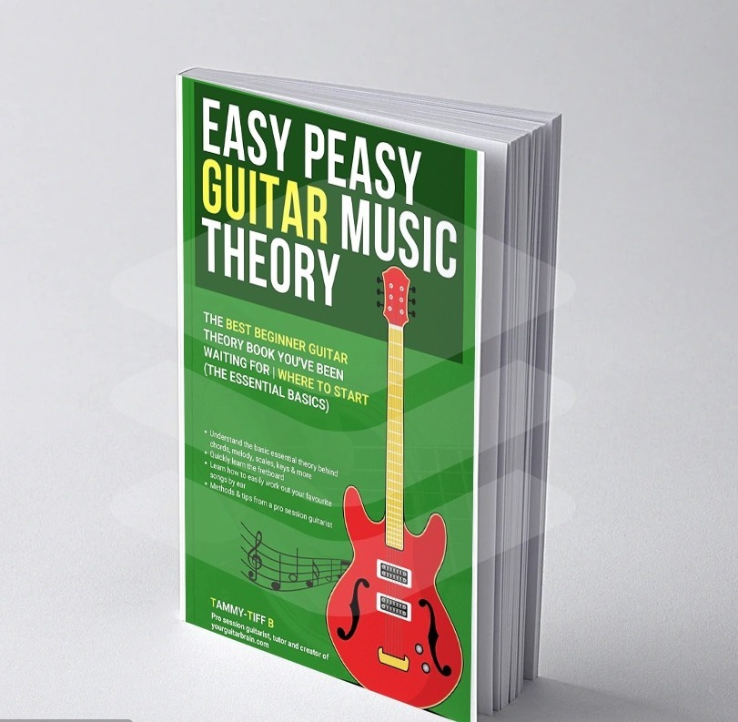 easy Peasy Beginner Guitar Theory Book Mock Up Front Cover