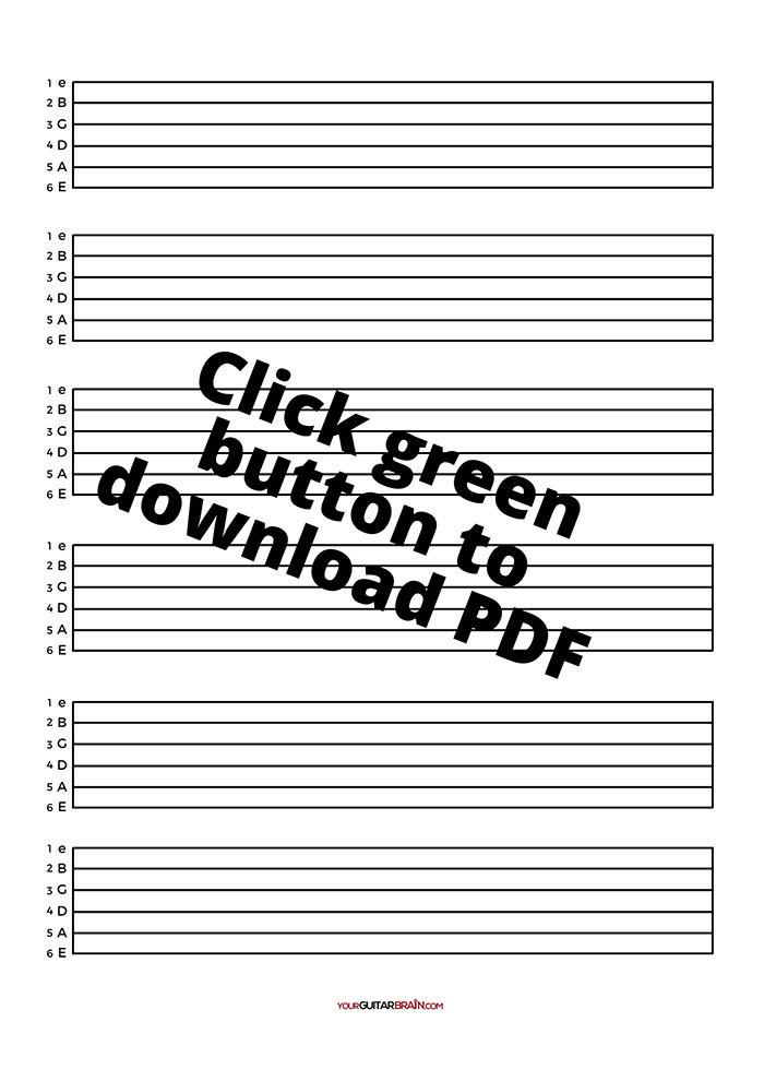 Guitar tablature print out free PDF Tab printable download