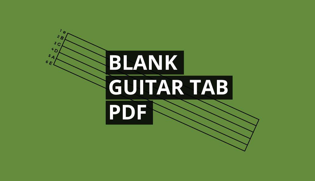 Free guitar tab paper pdf print out tablature sheet music