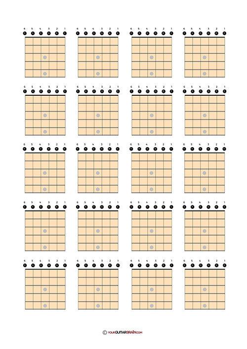 free chord box chart download