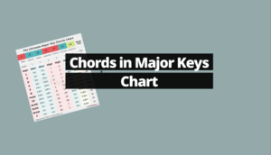What chords are in major keys chart major and minor chord key signature diagram