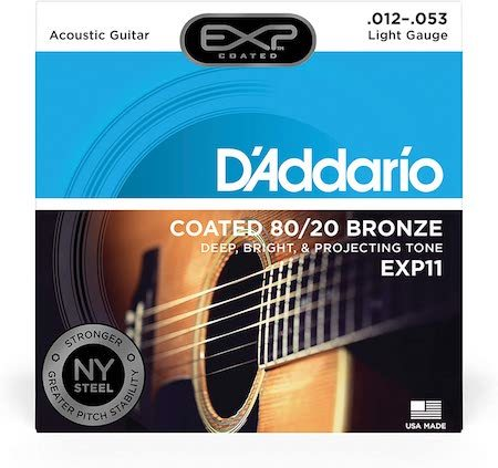 Best acoustic guitar strings to buy D'Addario Coated 80:20 Acoustic Strings