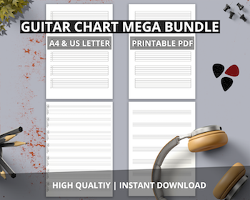 Free guitar tab quality guitar pdf blank tablature paper music sheets