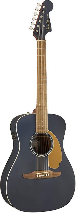 best parlour small guitar for travel_Fender Malibu Player Acoustic Guitar