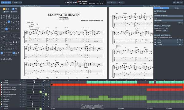 Guitar pro 7 guitar tablature tab software stairway to heaven free tab