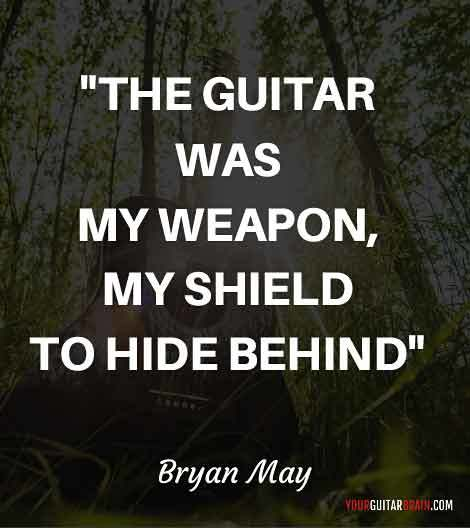 Brian May inspiring motivational music quote