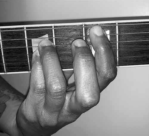 how to play a power chord photo fingering