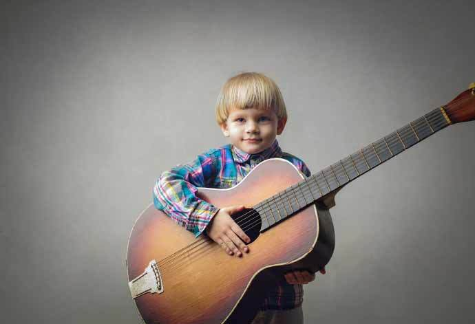 Child Beginner Guitar Player Large Big Guitar