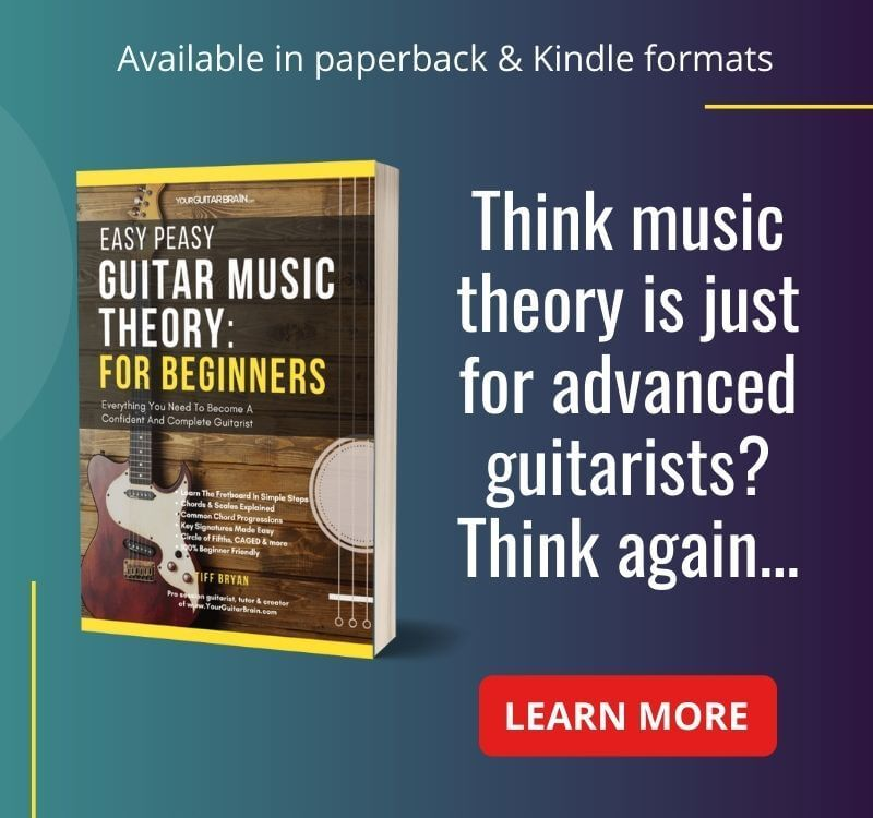 best guitar music theory book for beginners easy peasy guitar theory book