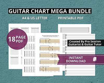 blank TAB paper, chord chart boxes, Tablature manuscript paper