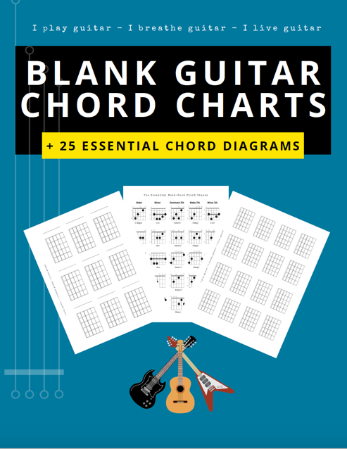 blank guitar chord charts boxes free pdf blue electric acoustic