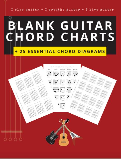 blank guitar diagrams chord charts boxes free pdf