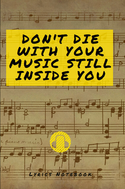 music lyric notebook songwriters musicians composers lined ruled paper notepad unique