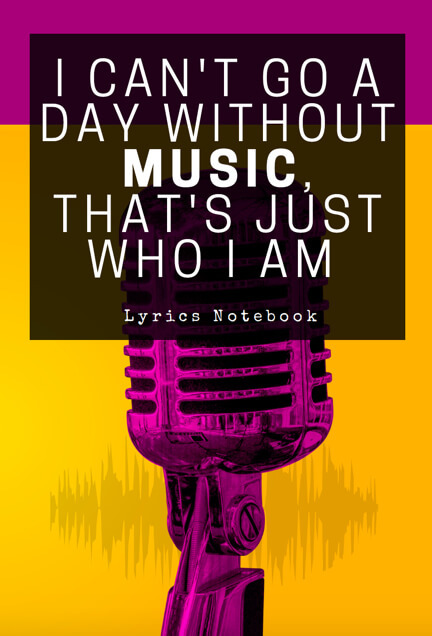 music lyric notebook songwriters musicians composers lined ruled paper notepad