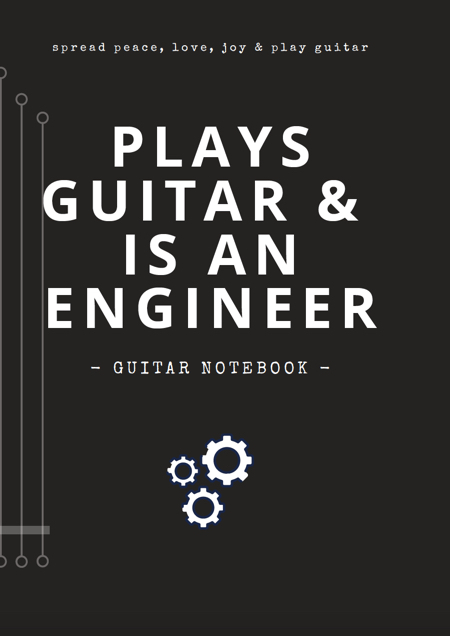 notebooks guitar blank tab paper chord charts guitarist gifts funny unique gifts dad grandad engineer job