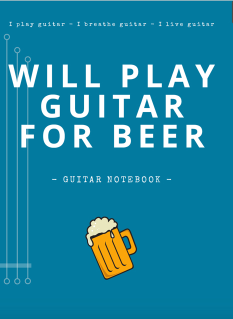 notebooks guitar blank tab paper chord charts guitarist gifts funny unique outdoors dad