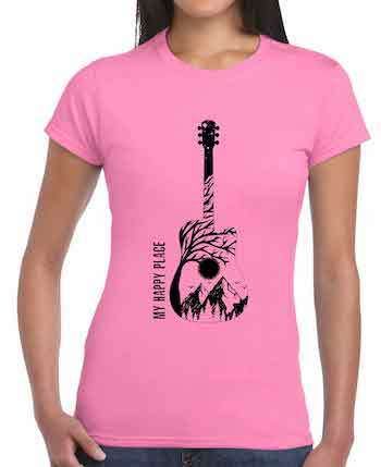 female guitar player gifts t shirts ladies girls music lover present acoustic electric christmas birthday