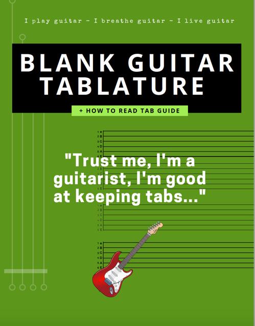 blank guitar tablature tab stave paper pdf free