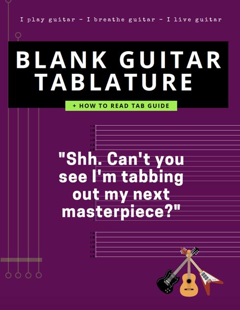 blank guitar tablature tab stave paper pdf free beginner accessory