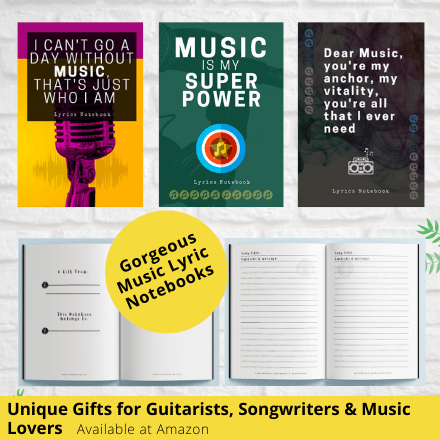 gifts for guitar players birthday christmas guitar notebook