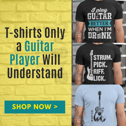 guitar t-shirts gifts for guitarists music lovers christmas birthday present ideas him dad grandad