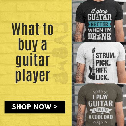 guitar t-shirts gifts for guitarists music lovers christmas birthday present ideas him dad grandad what to buy guitarist